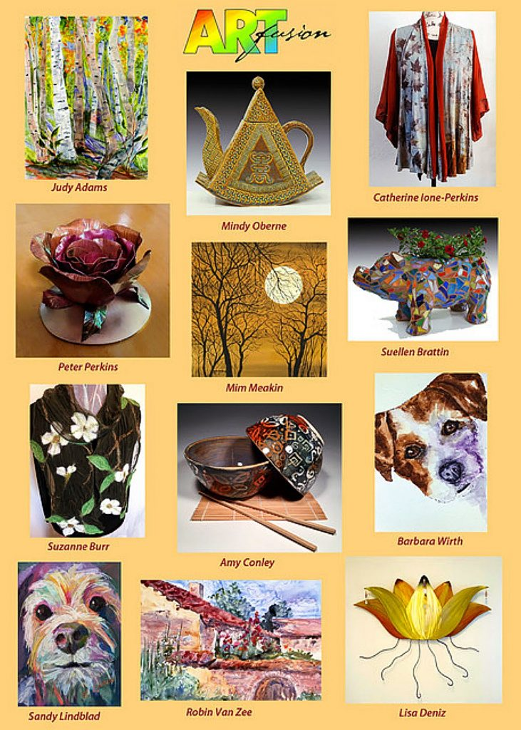 Art Fusion's Holiday Art Sale, usually held early November at Saint Canice Center in Nevada City, will be having in-studio and online sales available instead, due to the COVID-19 situation. Twelve local artists are currently receiving customers at their private studio/showroom, and can process purchases through their websites.
