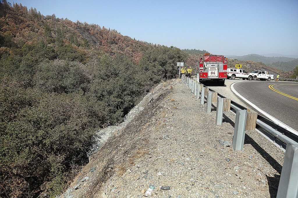 The Nishinam Gulch and Rush Creek Canyon off Highway 49 where Tuesday's small flare up of the Jones Fire occurred.
