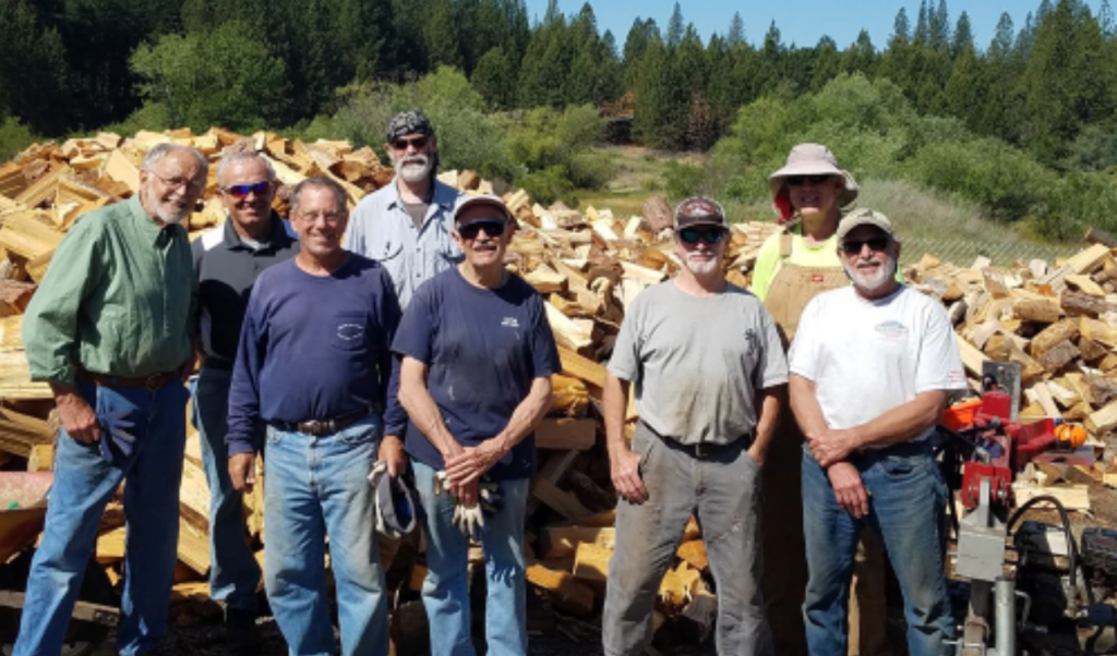 Some of the 2019 Firewood Program Volunteers.  Photo courtesy of Gold Country Senior Services