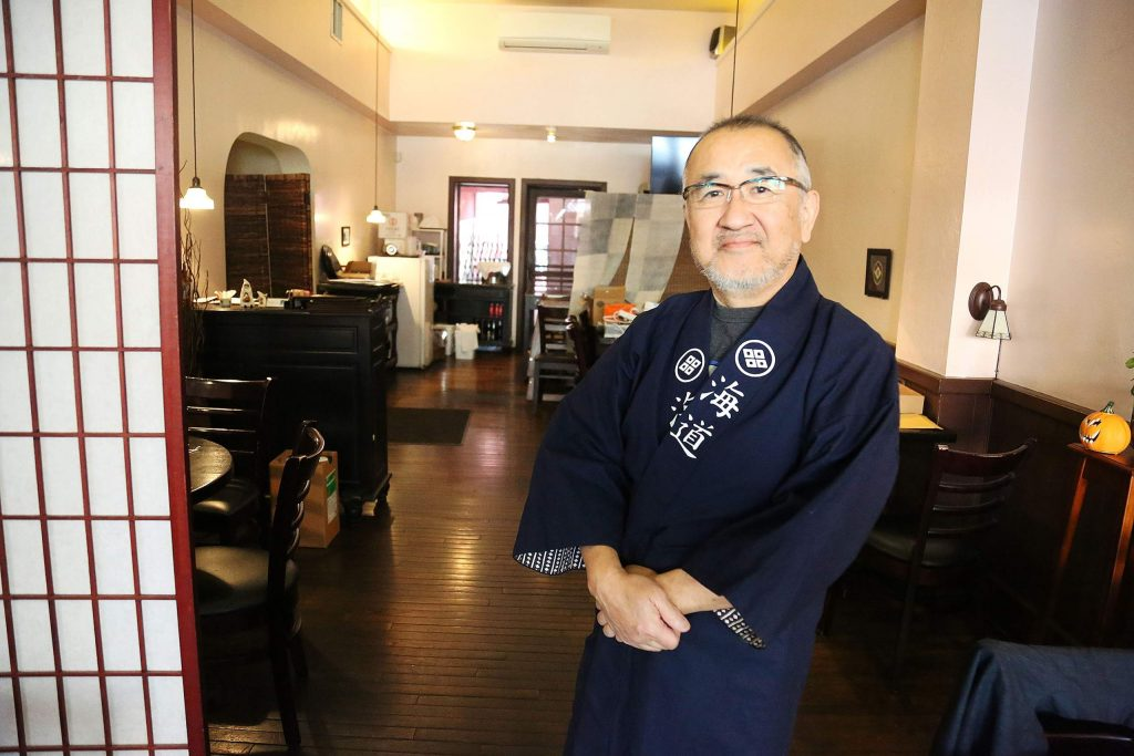 Kaido Sushi and Japanese Grill owner Kazuhiko Mukai inside of his restaurant he has operated at 207 W. Main St. in Grass Valley for the past 15 years.