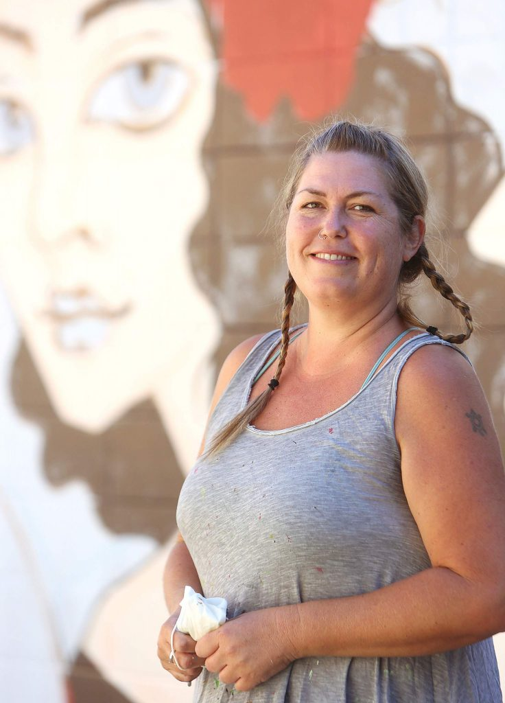 Mural artist Ursula Young has painted pieces in cities all over the world and has wanted to be able to put her talent on display in the community that she also calls home.