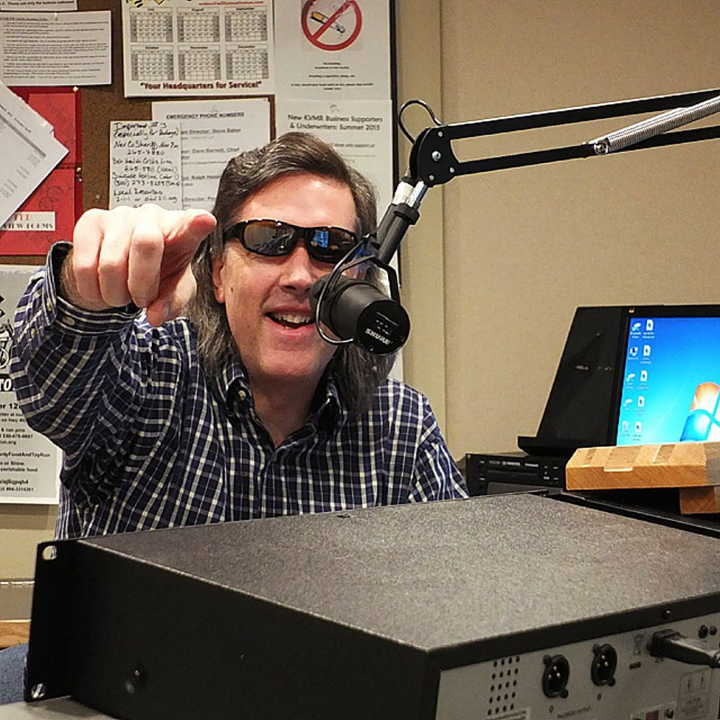 After 33 1/3 years on KVMR 89.5 FM, volunteer broadcaster Brian Lee will host his final