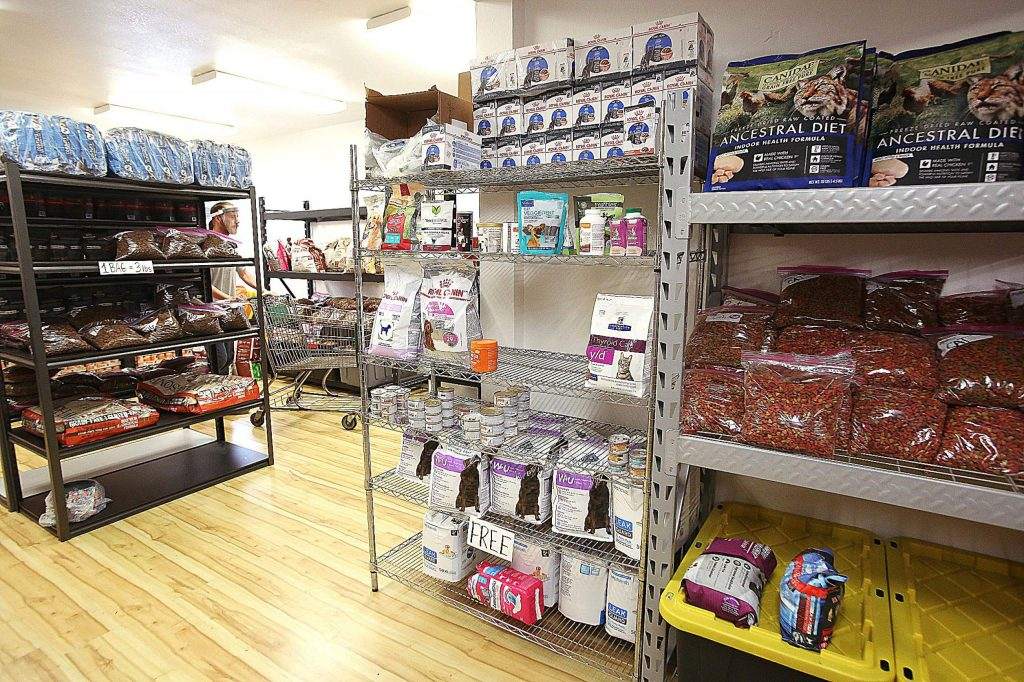 Nevada County Pets in Need's new digs at 139 Joerschke Drive has pet food for dogs and cats as well as dog life jackets and winter apparel.