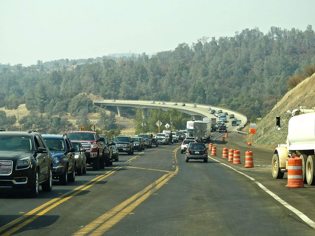 A stretch of Hwy 20 over the Yuba River Bridge in Yuba County. Caltrans is working on a widening project.