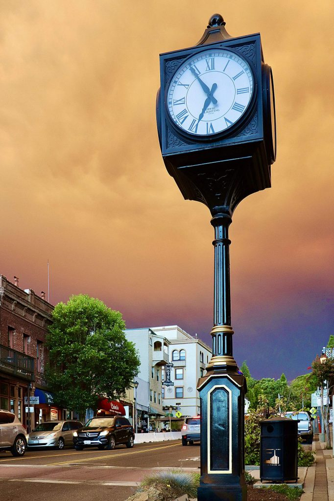 Downtown Grass Valley Tuesday evening.