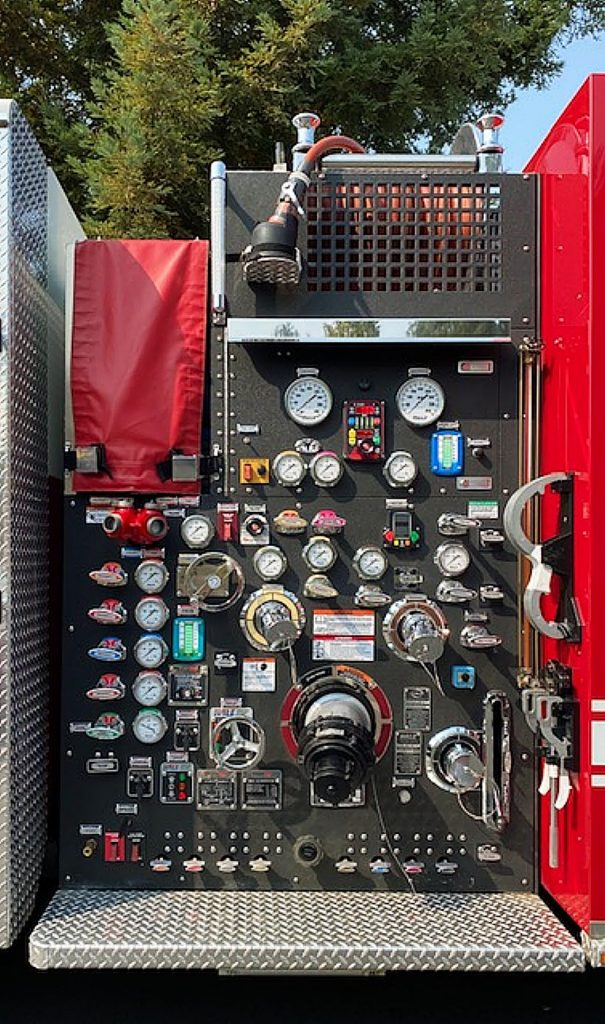 A shout out to all of our heroic firefighters! Gauges on a fire engine looking very complicated! Thank you, fire crews, for your untiring, courageous service in saving lives and property!