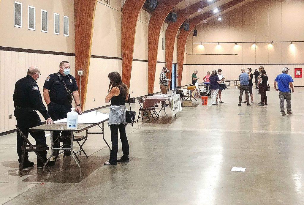 Members of the community affected by the Jones Fire were able to receive assistance Wednesday afternoon and evening at the Nevada County Fairgrounds, where representatives from various agencies were on hand to answer questions and offer help.