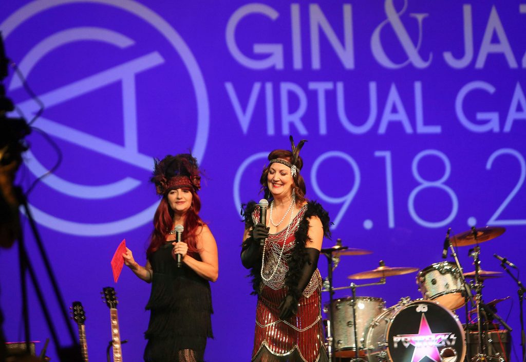 Master of Ceremonies Elise Parker and Center for the Arts Executive Director Amber Jo Manuel were on camera personalities during Saturday's virtual auction where $75,000 was raised.