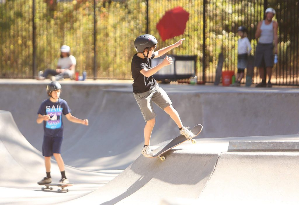 The air quality was safe for people to be outside Friday in western Nevada County, and the regular skaters at Condon Skate Park in Grass Valley were out in force. High temperatures were in the upper 70s to lower 80s Friday with similar highs expected today before a stretch of days in the 90s, which will bring an elevated fire weather risk.