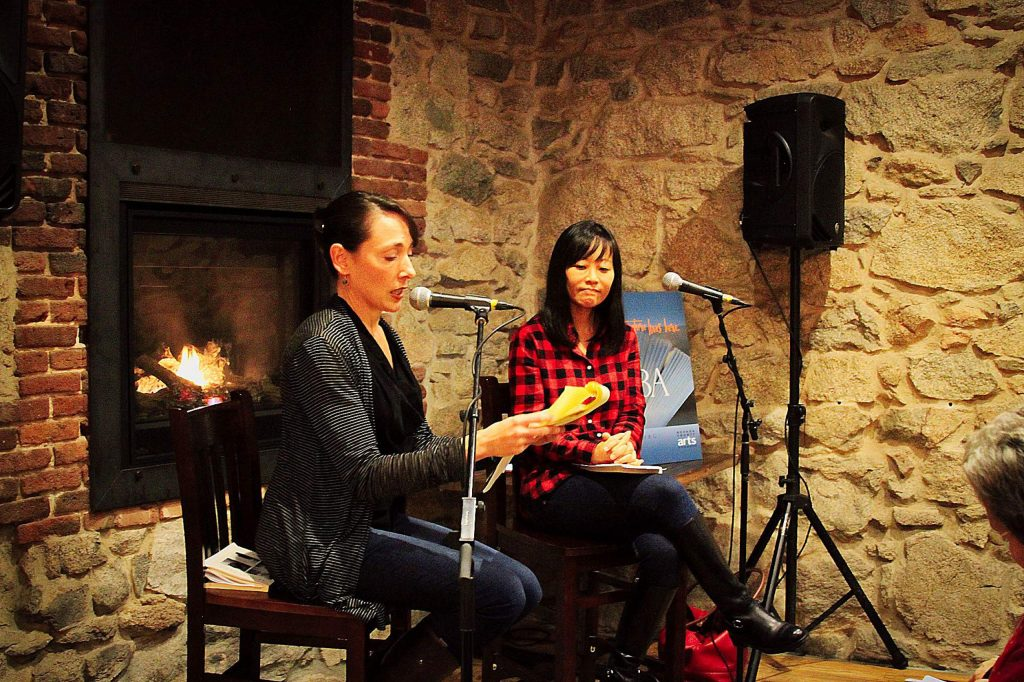 Rachel Howard and Krys Lee in January 2018 at the Stonehouse.