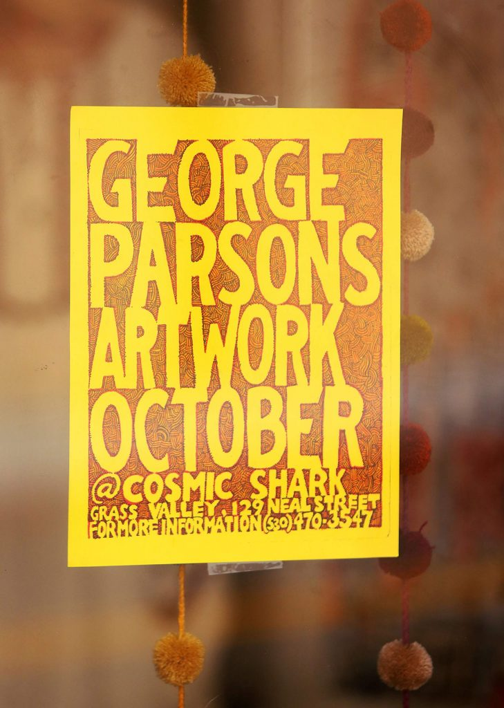 Cosmic Shark has taken up residence at 129 Neal St. in Grass Valley and is featuring the artwork of George Parsons during the month of October.