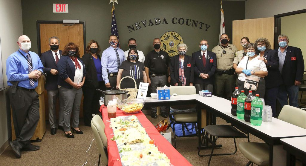 Members of the Nevada County Sheriff's Office were treated to a meal from Maria's, courtesy of the Grass Valley Elks Lodge Tuesday at the Eric Rood Administrative Center.