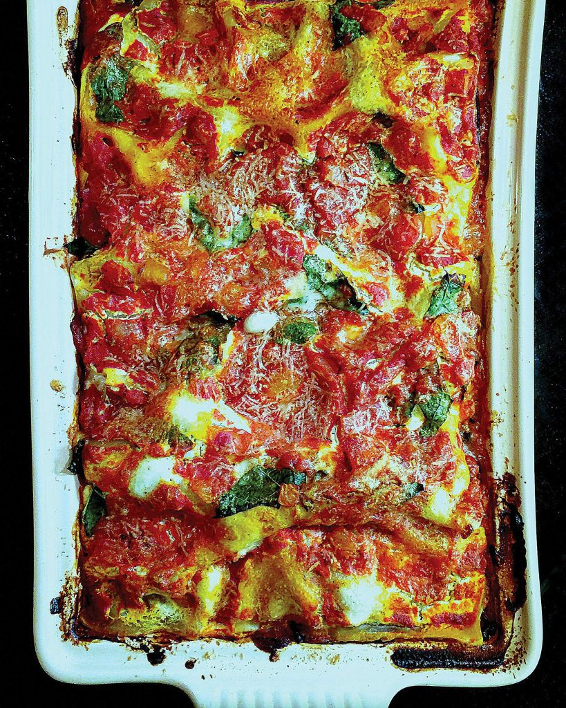 The cooler season begs for layers — and not just when it comes to clothing. Behold the lasagna. This hefty casserole is layered with three cheeses, a meaty tomato sauce and — wait for it — kale.