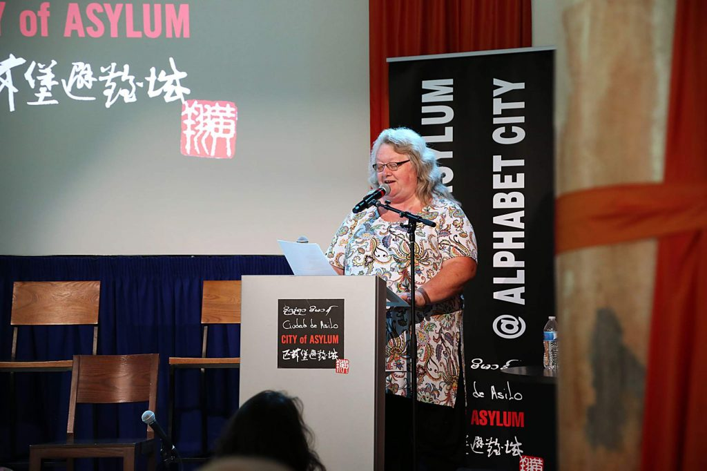 As part of the meeting of the inaugural Academy of American Poets Laureate Fellows (2019-2020), Molly Fisk presents in Pittsburgh for a reading at City of Asylum, a bookstore/cafe and political refuge for writers.