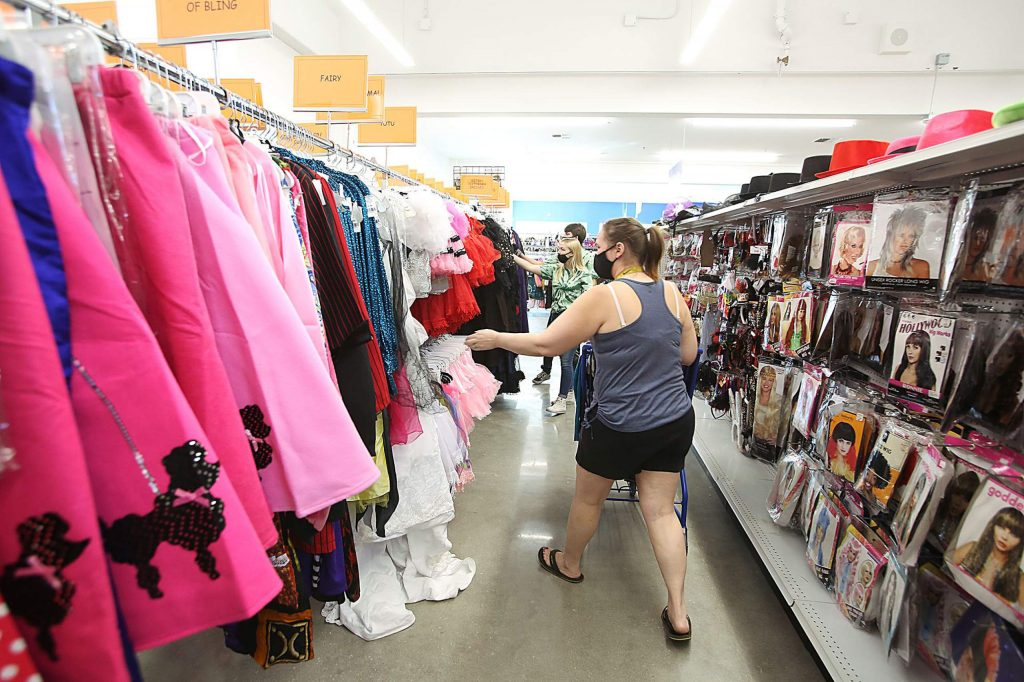 Alta Sierra's Nicole Saksa heard the new Goodwill store in Grass Valley was open and made sure to be there on opening day Tuesday.