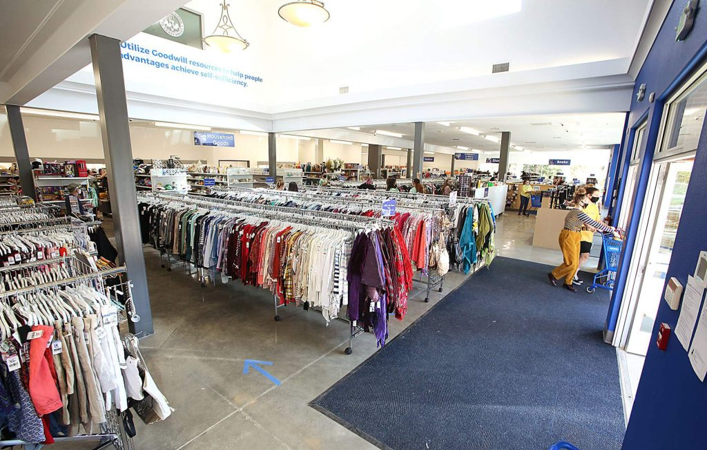 The interior of the new Grass Valley Goodwill offers clothing, sporting goods, toys, books, shoes and more.
