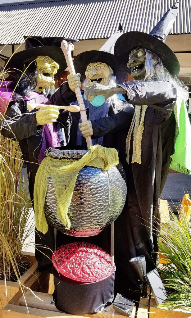 Over-the-top Halloween decorations and selfie photo opportunities abound in downtown Grass Valley, with ghouls and goblins funded by monies originally allocated for children's treats and a COVID-cancelled parade downtown.