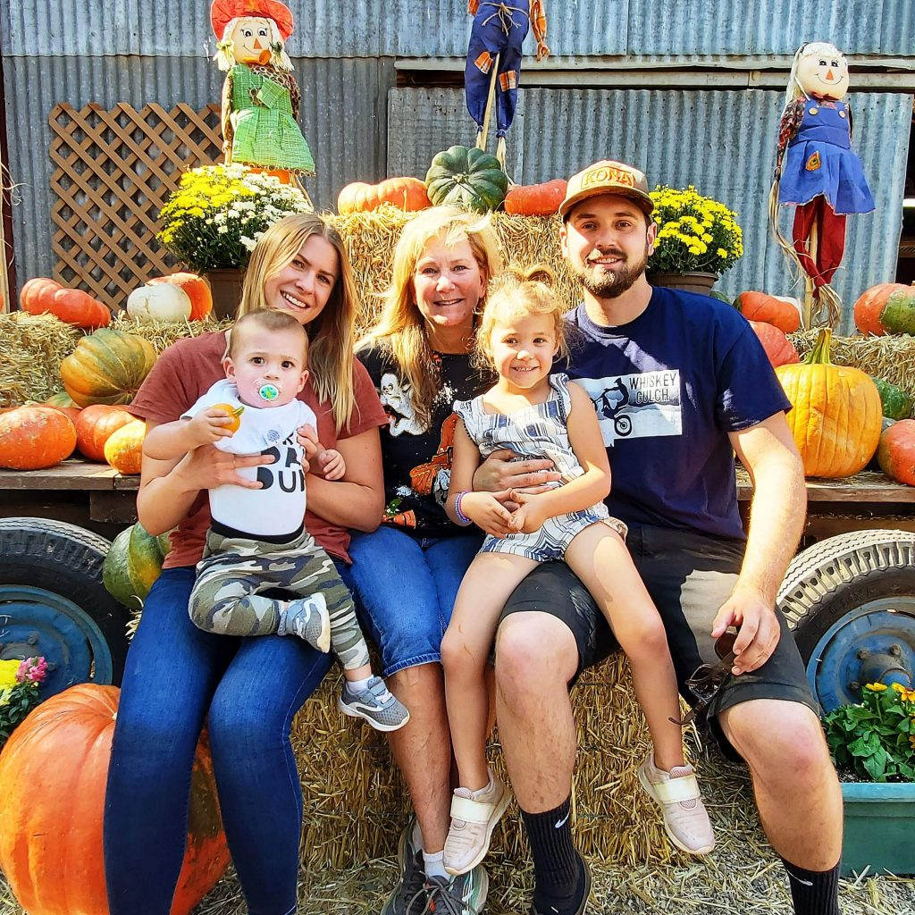 When Donna Thomassen, center, of Grass Valley was visited by her son Trevor, his girlfriend Carlie Meyers, and Carlie's children 4-year-old Annabelle and 1-year-old Atlas, the group spent a relaxing day enjoying the fall harvest at Bierwagen's Donner Trail Fruit and Farm.