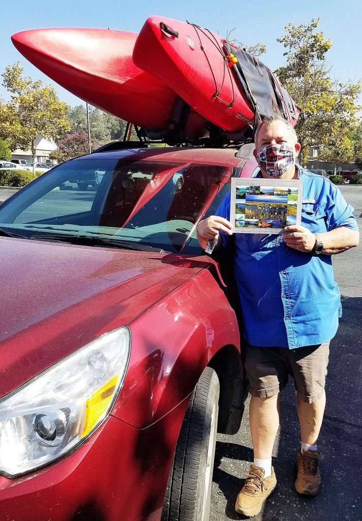 No doubt inspired by two kayaks strapped atop Gregory Shaffer's car, an anonymous donor left the book
