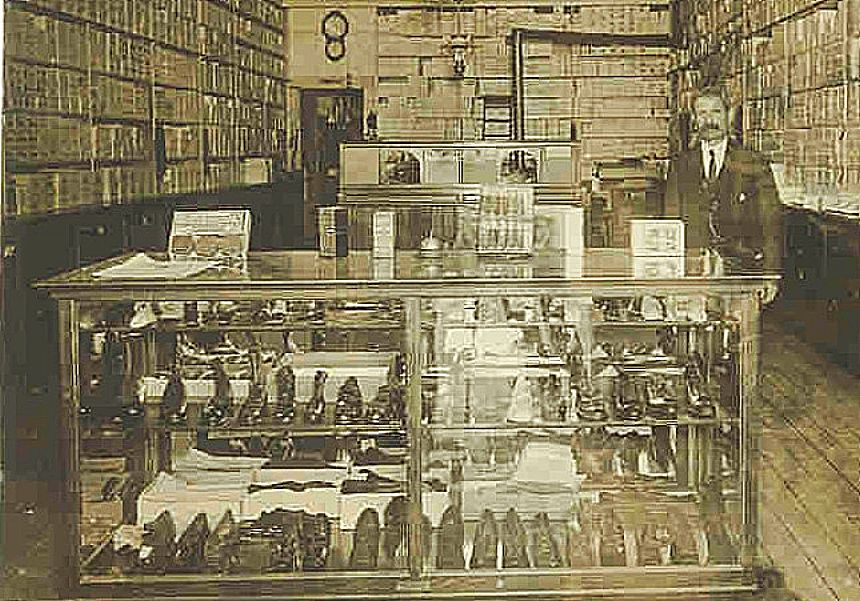 John Best Shoe Store, at 112 Mill St., was one of Grass Valley's best recognized businesses. After more than 40 years in business, Best retired about 1930.