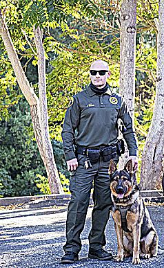 K9 Ranger and Deputy Josh Stanis of the Nevada County Sheriff's Office.