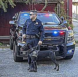 K9 Kano and Officer Evan Butler of the Grass Valley Police Department.