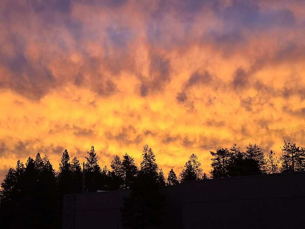 Sunrise in Grass Valley on Oct. 10, 2020.