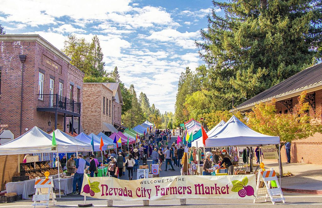 Perfect fall day for the Nevada City Farmer's Market Saturday, October 10.