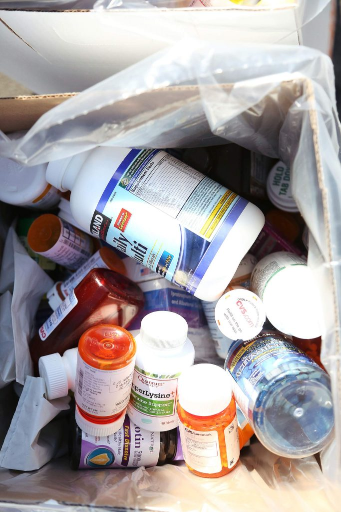 Bins full of collected medications will be incinerated.