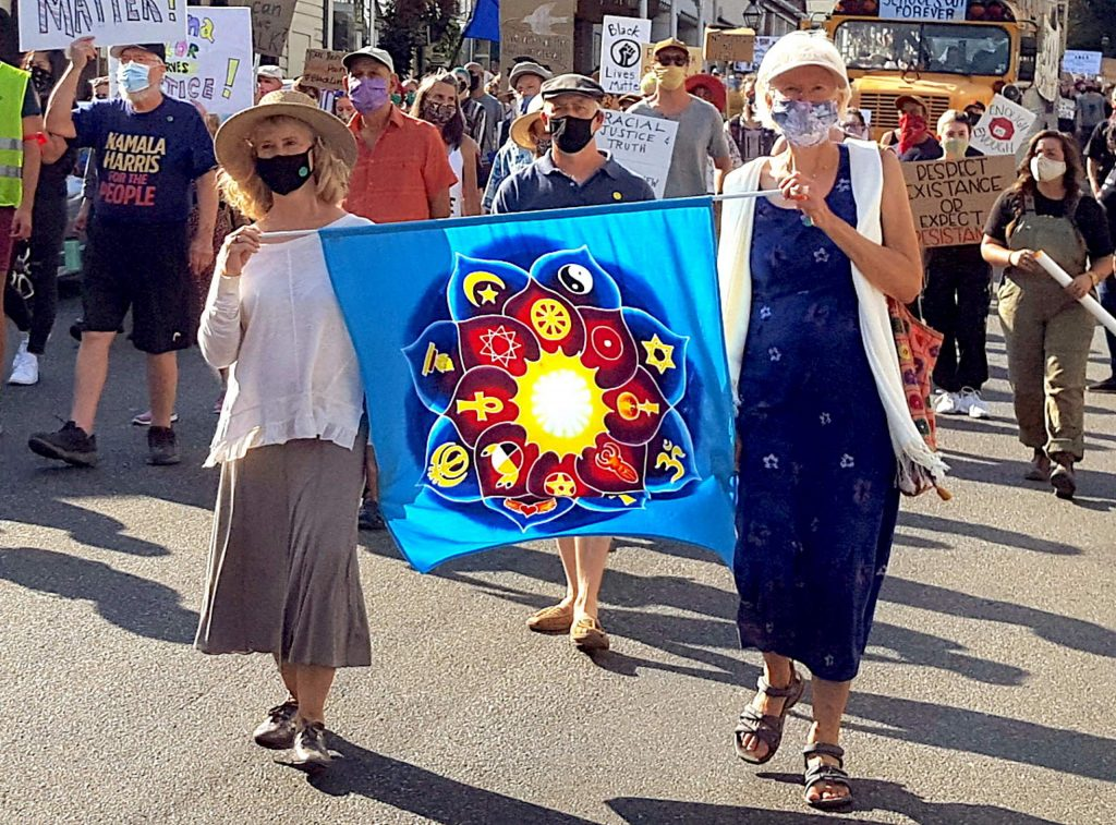 Several hundred community members participated Sunday in a March for Racial Equity, Inclusion, and Peace down Broad Street in Nevada City.