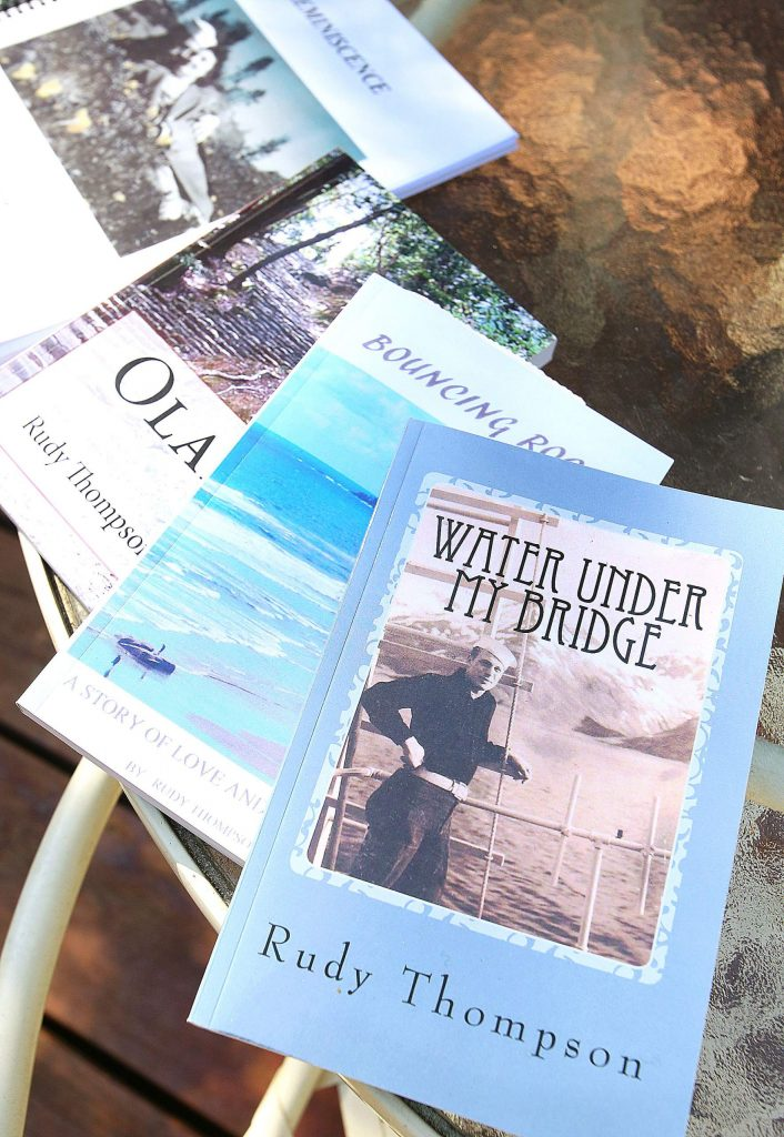 """Only within the past few years did Thompson decide to write books, three of which, """"Water Under My Bridge,"""" """"Bouncing Rocks,"""" and """"Olaf"""" can be found online through Amazon.com."""