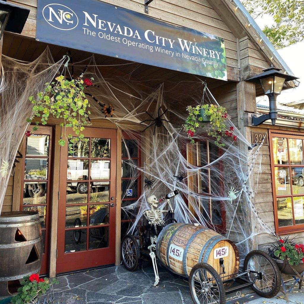 Now through Halloween you can dress-up and save — wear your Halloween costume and get half-off a glass of wine at the Nevada City Winery in downtown Nevada City.