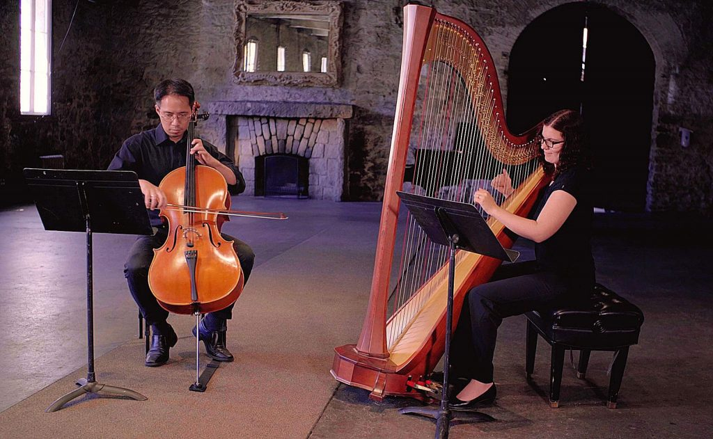 Jia-mo Chen, cello, and Sage Po, harp, perform Maura Blair's composition: The Garden's Lullaby.