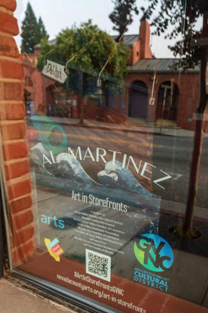 Artist Al Martinez can by found at 128 East Main Street, Grass Valley .