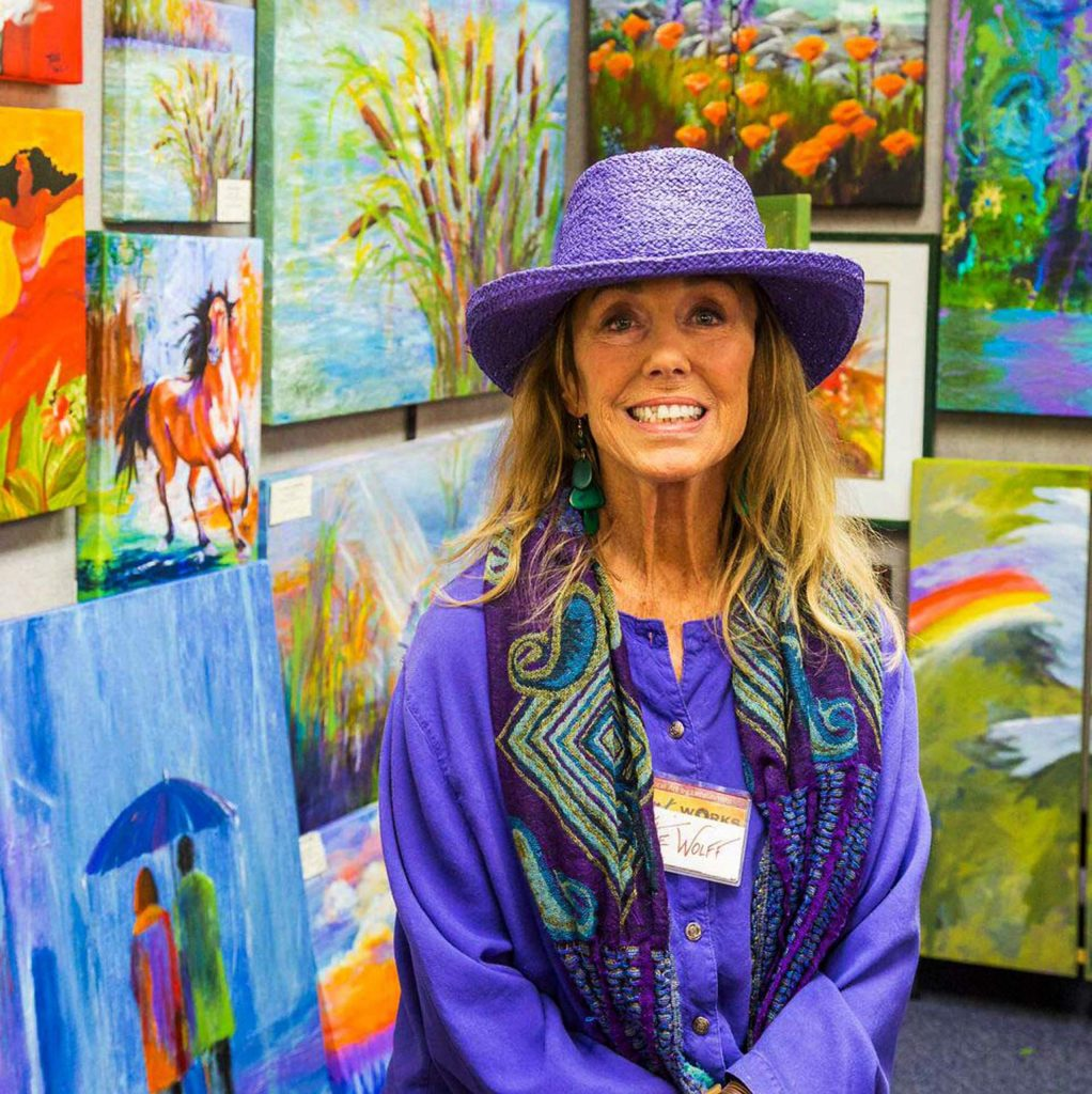 Artist Katie Wolff has been with Art Works for about eight years. She said she is proud to be part of the organization that who not only offers exposure of her work, but to the work of many of the talented artists who call Nevada County home.