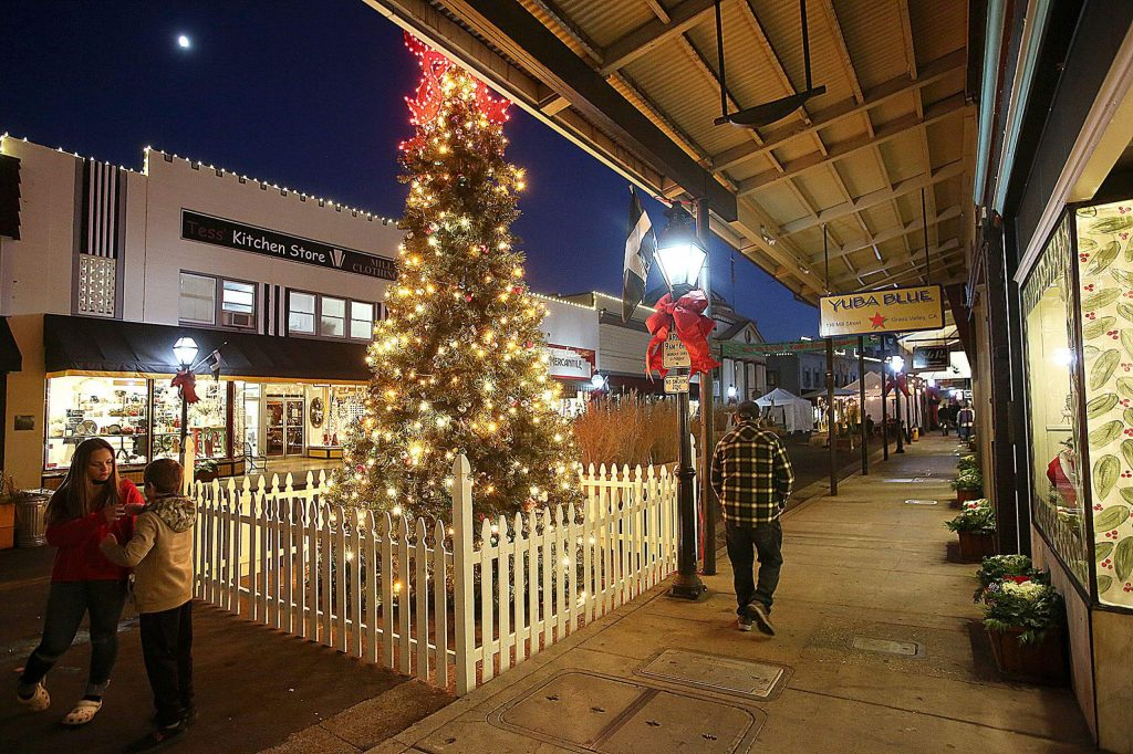 The city of Grass Valley has taken the effort to decorate Mill Street to help encourage people to come downtown and shop local this holiday season.