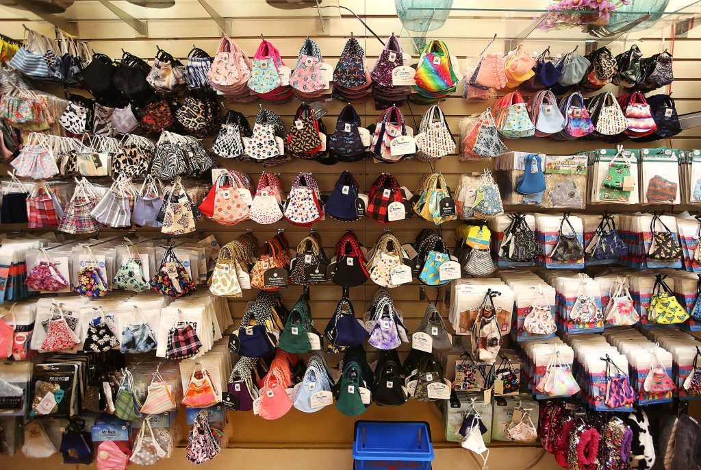 An extensive selection of face masks can be found at Yuba Blue in downtown Grass Valley.