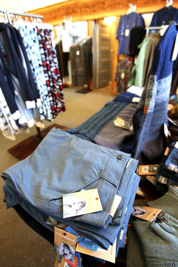Royal Robbins clothes are just one of the many brands carried at downtown Grass Valley's J. Breuer Clothing.