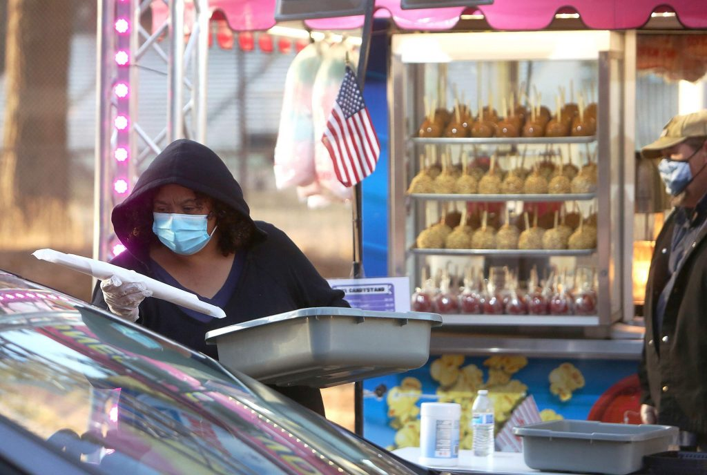 Churros, cotton candy, candy apples and corn dogs can all be had from the Candystand at the Nevada County Fairgrounds' Fair Food Fest.