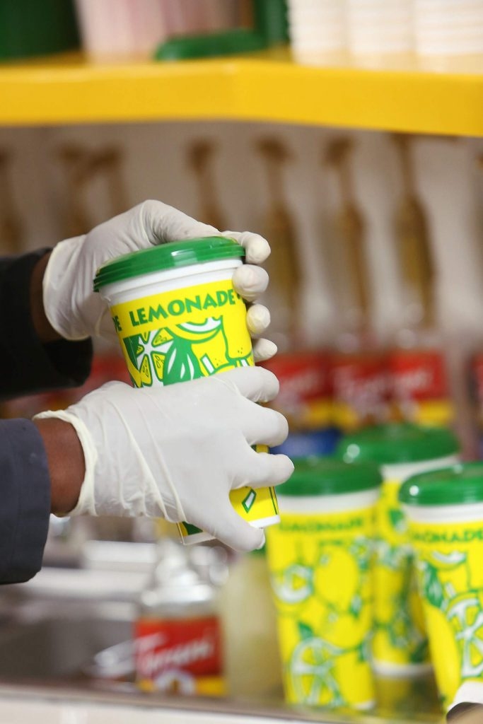 Lemonades are prepared for customers Friday at the Nevada County Fairgrounds' Fair Food Fest, which lasts through Sunday until 8 p.m.