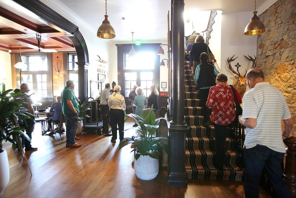 Community members were given their first in person look at the newly remodeled historic Holbrooke Hotel Thursday afternoon as hotel staff hosted tours. Rooms can be booked at www.Holbrooke.com. The hotel opens to the public Saturday.