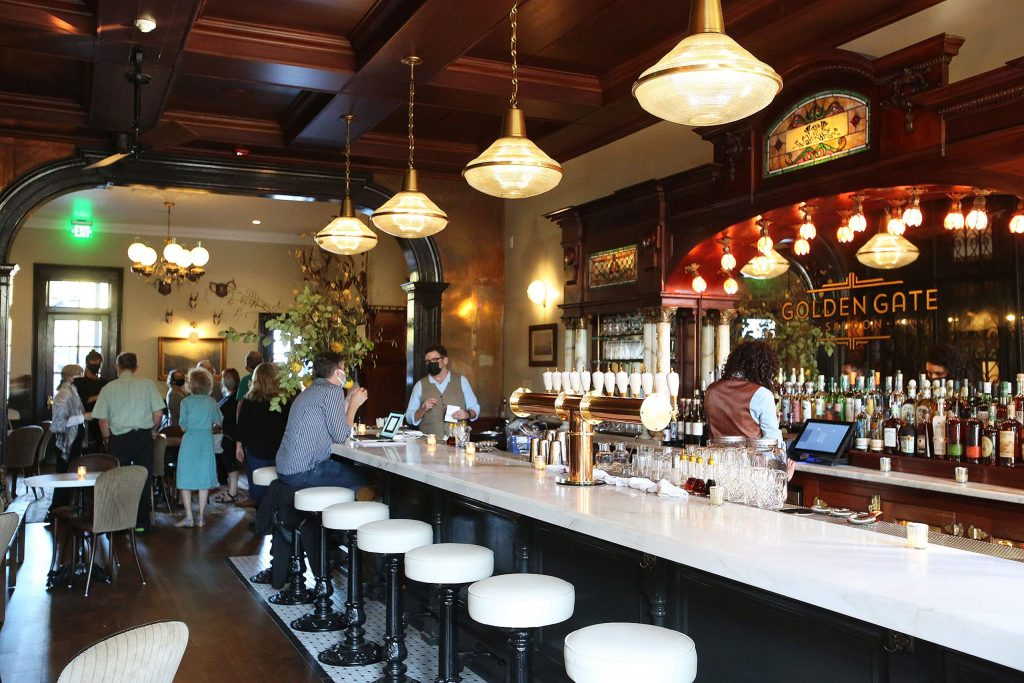 This historic Golden Gate Saloon has had a facelift during the remodeling process of the Holbrooke Hotel.
