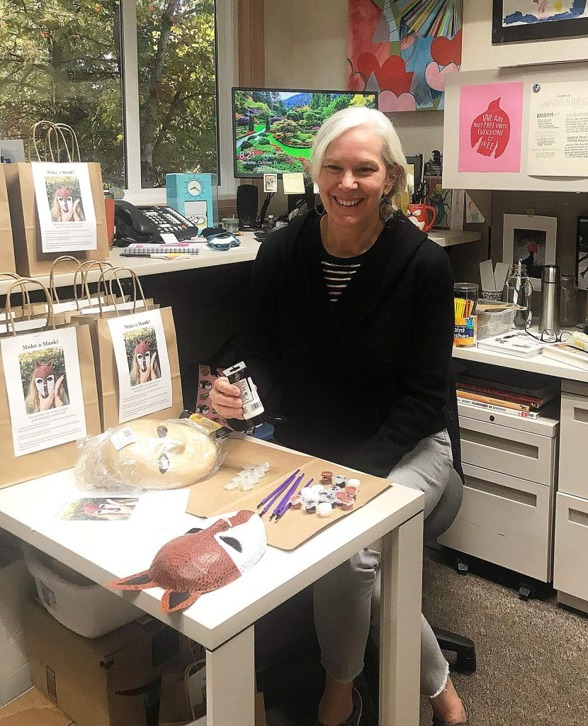 Adult Services Librarian Sydney Joyce helps plan and create Grab & Go Craft Bags, with each kit tailored to adults, teens, or youngsters.