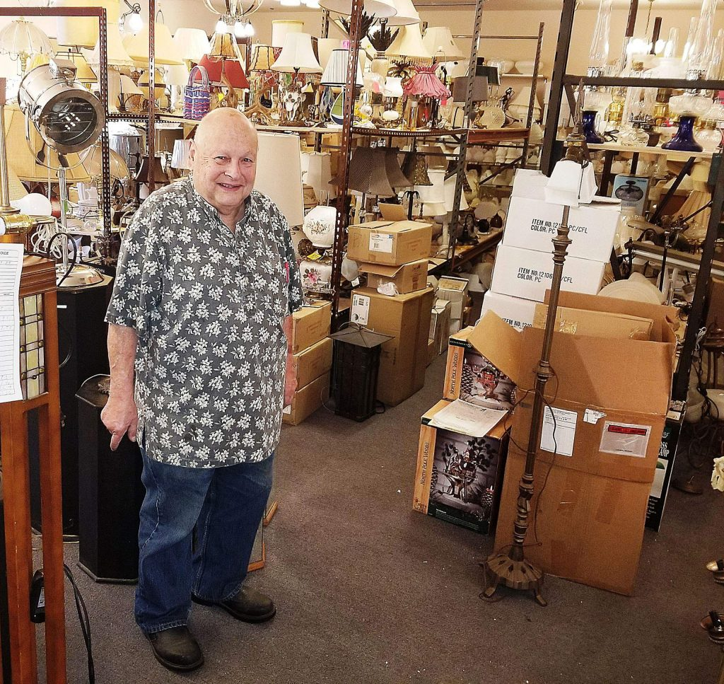 Arnold Goldberg would love to find new homes for hundreds of lighting fixtures that fill his Lamp Doctor retail store and five warehouses, but he does not relish the process of advertising and promoting his collection.