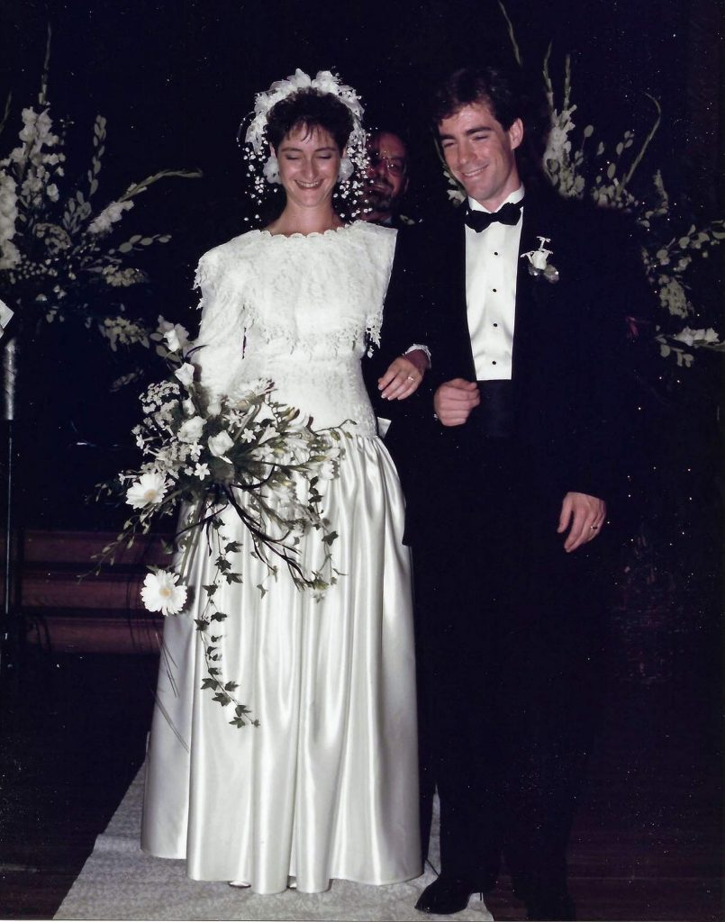 After their wedding ceremony at St. Joseph's Cultural Center, Grass Valley Mayor Lisa Swarthout and her husband Chris Therrien hosted their reception at the Holbrooke in 1988.