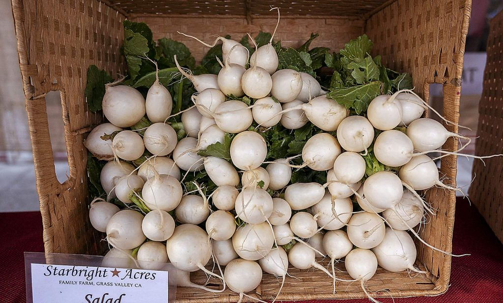Salad turnips being sold by Starbright Acres Family Farm.