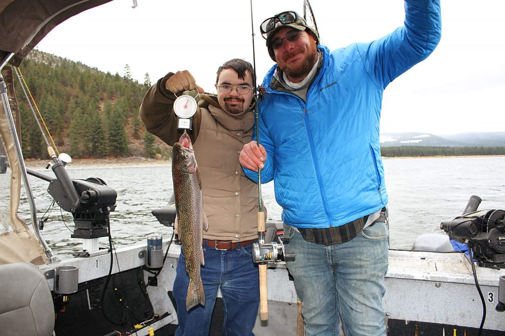 Colin Peirce and Bryan Fox with a 24 inch rainbow.
