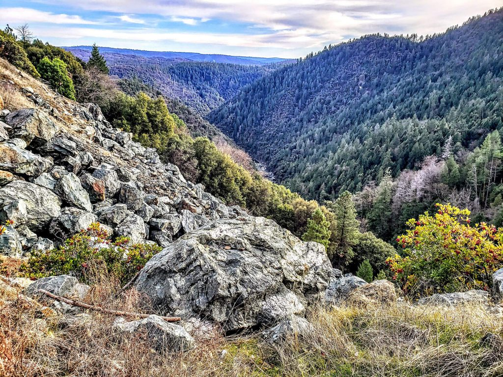 The view from the start of the Yuba Rim Trail.