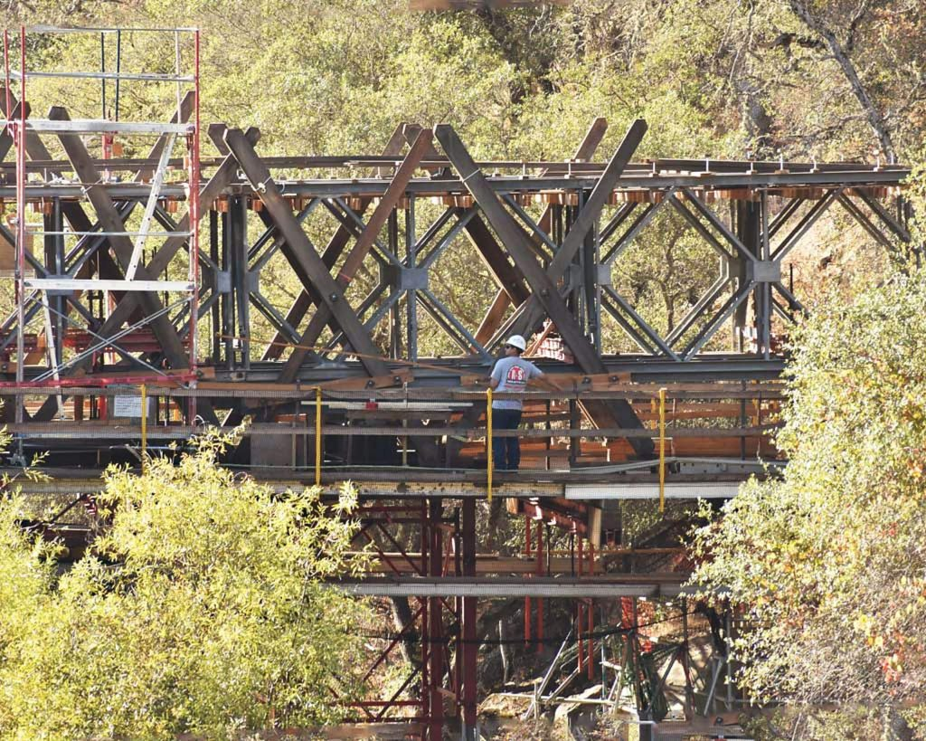 Bridgeport Uncovered Bridge. A shell of its former self - now in recovery.