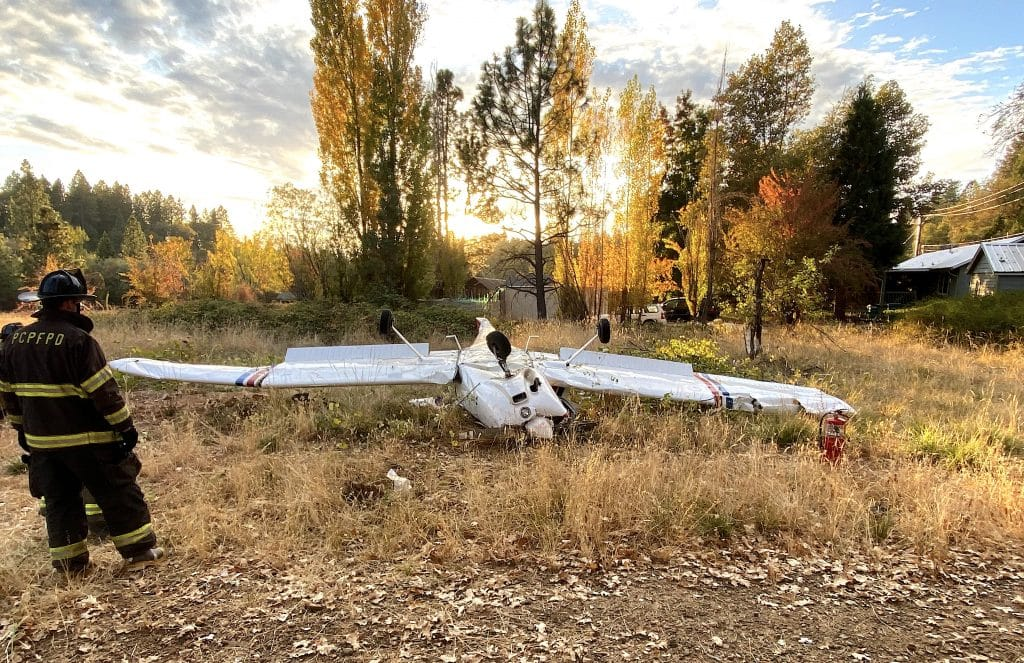 The pilot of this Piper airplane was injured in a solo crash Tuesday afternoon off Highway 174, authorities said.